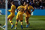 Luis Suarez of FC Barcelona celebrates goal during La Liga match between CD Leganes and FC Barcelona at Butarque Stadium in Leganes, Spain. November 23, 2019. (ALTERPHOTOS/A. Perez Meca)
