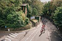 peloton up the Keizersberg<br /> <br /> 52nd GP Jef Scherens - Rondom Leuven 2018 (1.HC)<br /> 1 Day Race: Leuven to Leuven (186km/BEL)