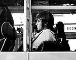 Beatles 1967 John Lennon on the Magical Mystery Tour bus..© Chris Walter.