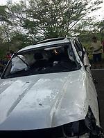 SUCRE - COLOMBIA - 14-04-2017: El músico colombiano Martin Elias falleció en la mañana de hoy, 14 de abril de 2017, luego de un accidente automovilístico cuando pasaba por el corregimiento Aguas Negras, en jurisdicción del municipio de San Onofre, en el norte del departamento de Sucre, Colombia. Martin Elias es uno de los hijos del fallecido Cacique de la Junta, Diomedes Diaz, famoso cantante vallenato. / Colombian musician Martin Elias died in the morning today, April 14, 2017, after a car accident as he passed through the town of Aguas Negras, in the jurisdiction of the municipality of San Onofre, in the north of the department of Sucre, Colombia. Martin Elias is one of the children of the deceased Chief of the Board, Diomedes Díaz, famous vallenato singer.  Photo: VizzorImage/ Jairo Cassiani /CONT