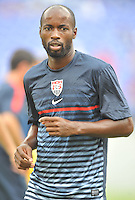 DaMarcus Beasley (7) of the USMNT during pe-game warmups.  The USMNT defeated El Salvador 5-1 at the quaterfinal game of the Concacaf Gold Cup, M&T Stadium, Sunday July 21 , 2013.