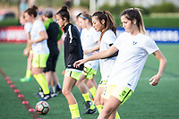Boston, MA - Saturday April 29, 2017: Seattle Reign FC during warmups before a regular season National Women's Soccer League (NWSL) match between the Boston Breakers and Seattle Reign FC at Jordan Field.