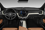 Stock photo of straight dashboard view of 2018 Volvo XC60-Hybride-Rechargeable Inscription-4wd 5 Door SUV Dashboard