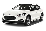 2019 Ford Focus Active 5 Door Hatchback Angular Front automotive stock photos of front three quarter view