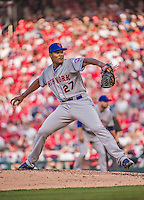 6 April 2015: New York Mets pitcher Jeurys Familia on the mound during the Season Opening Game against the Washington Nationals at Nationals Park in Washington, DC. The Mets rallied to defeat the Nationals 3-1 in their first meeting of the 2015 MLB season. Mandatory Credit: Ed Wolfstein Photo *** RAW (NEF) Image File Available ***