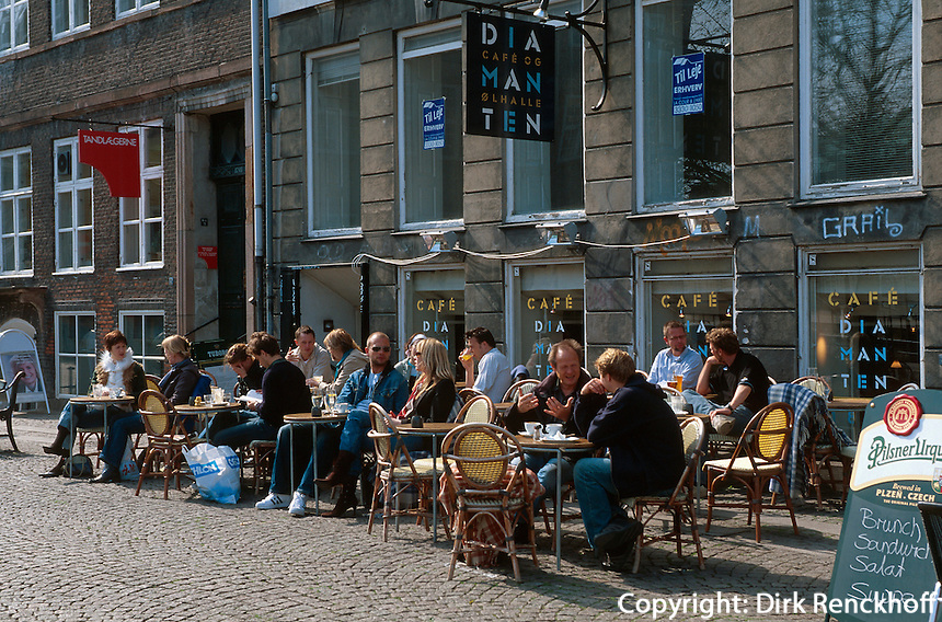 Restaurant am Gammel Strand in Kopenhagen, Daenemark