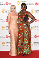 Helen George and Wunmi Mosaku<br /> in the winners room for the BAFTA TV Awards 2018 at the Royal Festival Hall, London<br /> <br /> ©Ash Knotek  D3401  13/05/2018