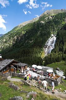 AUT, Oesterreich, Tirol, Stubaital, Unterbergtal, Grawa-Alm und Naturdenkmal Grawa-Wasserfall | AUT, Austria, Tyrol, Stubai Valley, Grawa-Alm and natural monument Grawa waterfall