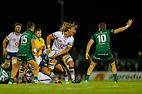 1st October 2021;  The Sportsground, Galway, Ireland; United Rugby Championships, Connacht versus Bulls; Jacques du Plessis plays the ball out for Bulls