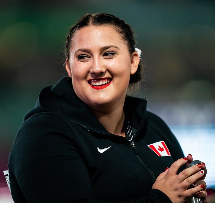 Sarah Hickey, Lima 2019 - Para Athletics // Para-athlétisme.<br /> Sarah Hickey competes in the women's discus F55 // Sarah Hickey participe au discus féminin F55. 27/08/2019.