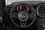Car pictures of steering wheel view of a 2019 Mini Hardtop 4 Door Cooper S Signature 5 Door Hatchback