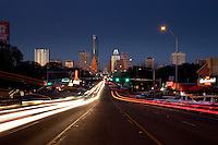 South Congress begins at the Colorado River and Ann W. Richards Congress Avenue Bridge and runs due south towards Ben White Boulevard/TX-71. The area bordered by two historic South Austin neighborhoods: Travis Heights to the east and Bouldin Creek to the west.