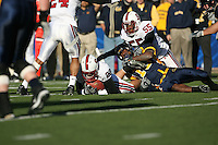 2 December 2006: Bo McNally recovers a fumble during Stanford's 26-17 loss to Cal in the 109th Big Game at Memorial Stadium in Berkeley, CA.