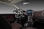 Passenger side dashboard view of a 2012 Mitsubishi MiEV SE .