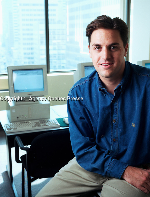 August 1998 file photo - Montreal (QC) CANADA  - EXCLUSIVE PHOTO : Ugo Dionne, CEO Synesys