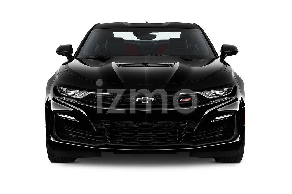 Car photography straight front view of a 2020 Chevrolet Camaro 2SS 2 Door Coupe Front View