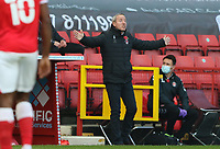 Lee Bowyer manager of Charlton Athletic during Charlton Athletic vs Plymouth Argyle, Emirates FA Cup Football at The Valley on 7th November 2020