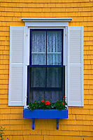 window with planter box, Nova Scotia; Canada