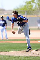 Johnny Gunter, Texas Rangers minor league spring training..Photo by:  Bill Mitchell/Four Seam Images.
