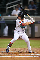 Salt River Rafters Ben Rortvedt (3), of the Minnesota Twins organization, at bat during an Arizona Fall League game against the Mesa Solar Sox on September 27, 2019 at Salt River Fields at Talking Stick in Scottsdale, Arizona. Salt River defeated Mesa 6-1. (Zachary Lucy/Four Seam Images)