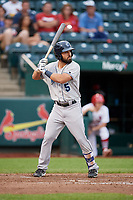 Corpus Christi Hooks shortstop Jack Mayfield (5) at bat during a game against the Springfield Cardinals on May 31, 2017 at Hammons Field in Springfield, Missouri.  Springfield defeated Corpus Christi 5-4.  (Mike Janes/Four Seam Images)