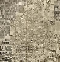 historical aerial photograph Ontario, San Bernadino county, California, 1952