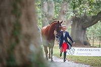 AUS-Sammi Birch presents Finduss PFB during the Final Horse Inspection for the CCI5*-L. 2021 GBR-Chedington Bicton CCI5* International Horse Trial. Bicton Park, Devon. Great Britain. Sunday 5 September.  Copyright Photo: Libby Law Photography