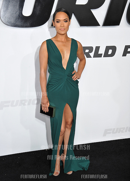 """Grace Gealey at the world premiere of """"Furious 7"""" at the TCL Chinese Theatre, Hollywood.<br /> April 1, 2015  Los Angeles, CA<br /> Picture: Paul Smith / Featureflash"""