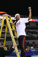 10 March 2008: Stanford Cardinal Melanie Murphy during Stanford's 56-35 win against the California Golden Bears in the 2008 State Farm Pac-10 Women's Basketball championship game at HP Pavilion in San Jose, CA.