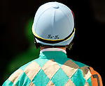 Jockey Garrett Gomez leaves the track at Churchill Downs in Louisville, Kentucky on May 6, 2006.  Barbaro, ridden by Edgar Prado, won the 132nd Kentucky Derby in the tenth race of the day....