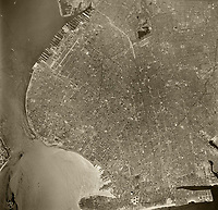historical aerial photo Brooklyn, New York City, 1960