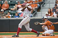 Stanford OF Austin Wilson (30) swings against the Texas Longhorns on March 4th, 2011 at UFCU Disch-Falk Field in Austin, Texas.  (Photo by Andrew Woolley / Four Seam Images)