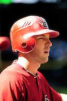 Apr. 3, 2010; Phoenix, AZ, USA; Arizona Diamondbacks shortstop Stephen Drew against the Chicago Cubs at Chase Field. Mandatory Credit: Mark J. Rebilas-
