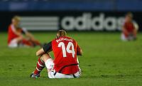 Dejected Germany player Ivana Rudelic..FIFA U17 Women's World Cup, Semi Final, Germany v USA, QEII Stadium, Christchurch, New Zealand, Thursday 13 November 2008. Photo: Renee McKay/PHOTOSPORT