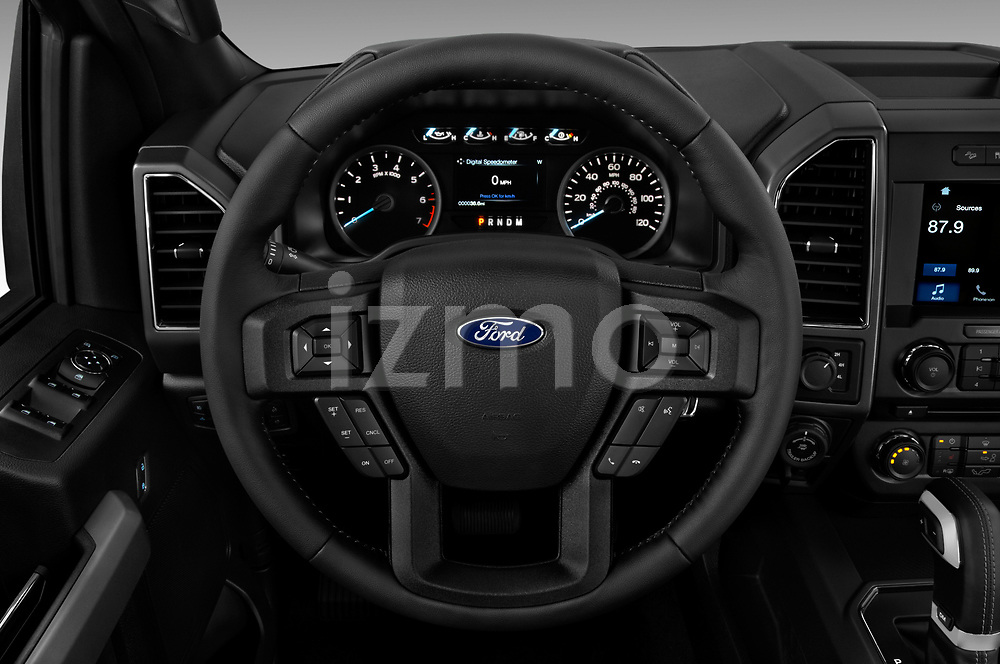 Car pictures of steering wheel view of a 2018 Ford F-150 XLT 4wd SuperCrew 4 Door Pick Up