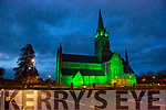 St Mary's Cathedral Killarney empty at 7:30pm on Saturday night