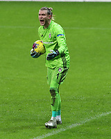 15th March 2020, Istanbul, Turkey;  Goalkeeper Loris Karius of Besiktas collects the through ball during the Turkish Super league football match between Galatasaray and Besiktas at Turk Telkom Stadium in Istanbul , Turkey on March 15 , 2020.