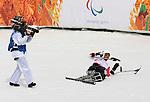 Kurt Oatway, Sochi 2014 - Para Alpine Skiing // Para-ski alpin.<br /> Kurt Oatway competes in the men's sitting downhill event // Kurt Oatway participe dans l'épreuve de descente assise masculine. 08/03/2014.