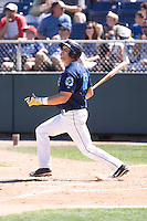 July 25, 2010: Everett AquaSox's Evan Sharpley (11) at-bat during a Northwest League game against the Salem-Keizer Volcanoes at Everett Memorial Stadium in Everett, Washington.
