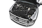Car stock 2015 Ram 3500 Laramie 4 Door Van engine high angle detail view