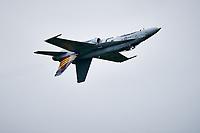 McDonnell Douglas F/A-18 Hornet de la RCAF ,<br />  en demonstration, sept. 2019<br /> <br /> <br /> PHOTO : Agence Quebec Presse - Pierre Tran