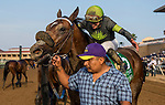 DEL MAR, CA - JULY 28: Ransom the Moon and Flavien Prat win the Bing Crosby Stakes at Del Mar on July 28, 2018 in Del Mar, California.(Photo by Alex Evers/Eclipse Sportswire)