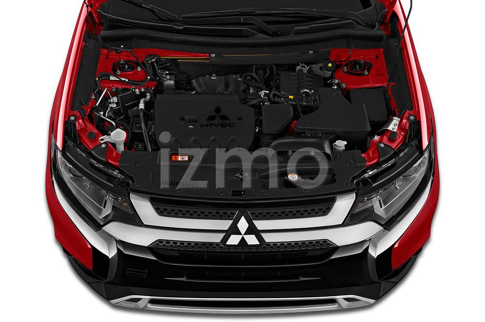 Car Stock 2020 Mitsubishi Outlander SEL 5 Door SUV Engine  high angle detail view