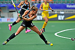 The Hague, Netherlands, June 09: Petrea Webster #6 of New Zealand shoots the ball during the field hockey group match (Women - Group A) between England and Argentina on June 9, 2014 during the World Cup 2014 at Kyocera Stadium in The Hague, Netherlands. Final score 0-0 (0-0)  (Photo by Dirk Markgraf / www.265-images.com) *** Local caption ***