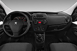 Stock photo of straight dashboard view of a 2017 Peugeot Bipper Pro 3 Door Car van
