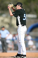 February 25, 2009: Pitcher Dirk Hayhurst of the Toronto Blue Jays during a Spring Training game at Dunedin Stadium in Dunedin, FL.  The New York Yankees defeated the Toronto Blue Jays 6-1.   Photo by:  Mike Janes/Four Seam Images