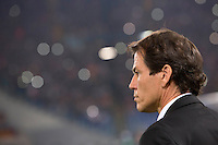 Calcio, Champions League, Gruppo E: Roma vs Bayer Leverkusen. Roma, stadio Olimpico, 4 novembre 2015.<br /> Roma's coach Rudi Garcia waits for the start of a Champions League, Group E football match between Roma and Bayer Leverkusen, at Rome's Olympic stadium, 4 November 2015.<br /> UPDATE IMAGES PRESS/Riccardo De Luca