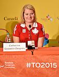 Catherine Gosselin-Despres, Toronto 2015.<br /> Highlights from Canada's Closing Ceremonies flag bearer annoucement // Faits saillants de l'annonce du porte-drapeau des cérémonies de clôture du Canada. 15/08/2015.