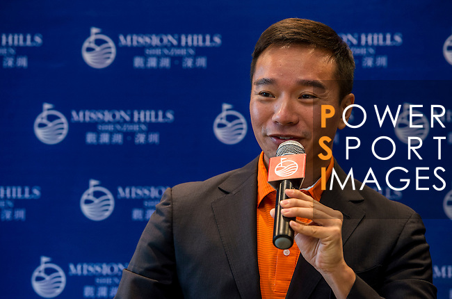 Tenniel Chu, Vice Chairman of Mission Hills Group, attends Korean Media during the Hyundai China Ladies Open 2014 on December 12 2014 at Mission Hills Shenzhen, in Shenzhen, China. Photo by Aitor Alcalde / Power Sport Images