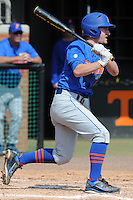 Florida Gators second baseman Casey Turgeon #2 swings at a pitch during a game against the Tennessee Volunteers at Lindsey Nelson Stadium, Knoxville, Tennessee April 14, 2012. The Volunteers won the game 5-4  (Tony Farlow/Four Seam Images)..